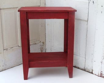 Rustic Entryway Table, Console Table, Red Table, Wood Table, Painted  Furniture,