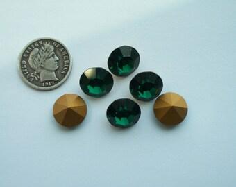 Swarovski 1100 Emerald 47ss Vintage Crystal Chatons Foiled