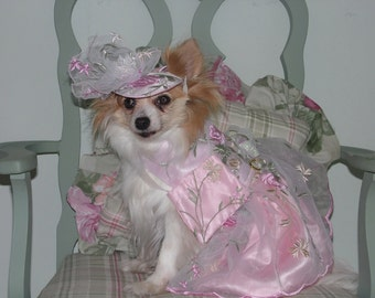 CUSTOM ORGANZA BRIDESMAID dog dress - Wedding or Special Occasion - Prom - Check on timing and fabrics- made to order up to 20 lbs