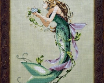 LAST ONE! COMiNG SOoN! MIRABILiA Queen Mermaid counted cross stitch patterns INCLUDES embellishments at thecottageneedle.com ocean sea