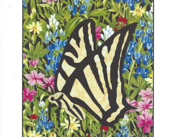 Bonita the Butterfly in the Flower Garden Tote Bag or Set of 4 Photo Note Cards with Envelopes