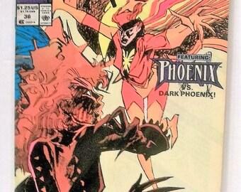 Marvel Comics Presents Excalibur #36 Phoenix Vs Dark Phoenix Good-VG Condition Vintage 1990 Marvel Comics Comic Book