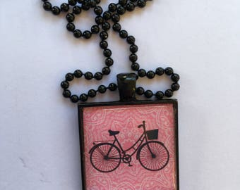 Necklace, ball chain necklace, pendant, bike, charity