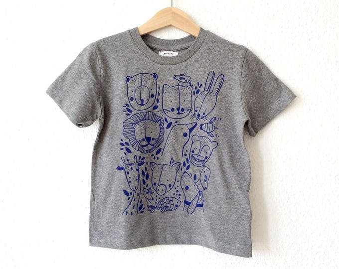 Organic T-Shirt for Kids // Animals are Friends