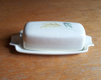 Franciscan Color-Seal Cream Speckled Autumn Covered Butter Dish