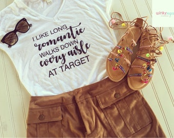 Long romantic walk at target tee/womens graphic tee/sizes S/M/L/ws163