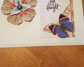 5 x 7 Just a Thought Butterfly