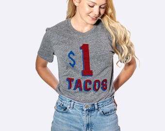 Taco Shirt Women and Mens Sizes, Fun for Taco Tuesday Party Tri Blend Tee