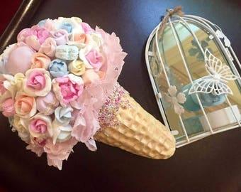 wedding flower, bride bouquet, bride accessories, roses bride bouquet, macaroons bouquet, macaroons style bride, peonies bride bouquet