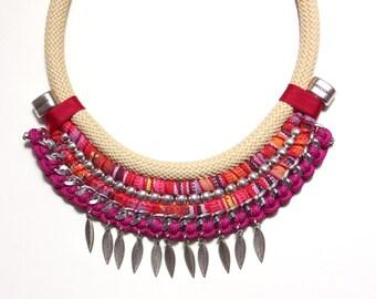 IZA ethnic statement necklace