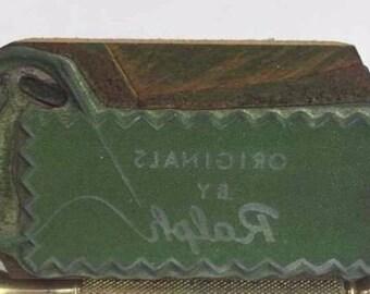 Vintage Letterpress Printers Block Originals by Ralph's Sewing Logo Type Stamp