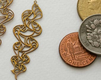 Vintage photochemically etched earring components from Kim Craftsmen. Original, never circulated. Priced per pair. Beadwork, Jewelry supply.