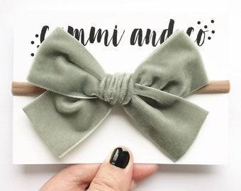 Extra chubby large velvet bow headband or hair clip