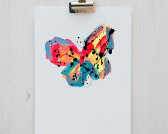 Butterfly Painting // Limited Edition 11 of 50 // Original Painting // Abstract Art // Abstract Painting // Home Decor // Wall Art