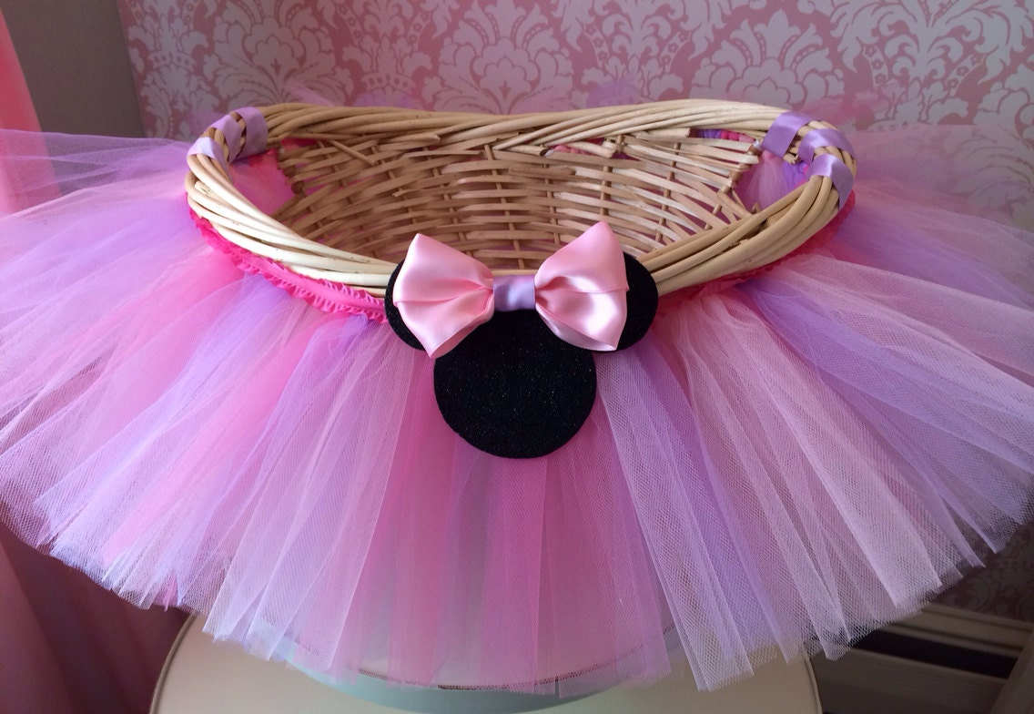Medium minnie mouse themed tutu basket birthday tutu gift zoom negle Choice Image