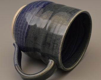 Navy Blue with Green Mug / Coffee Cup - #9