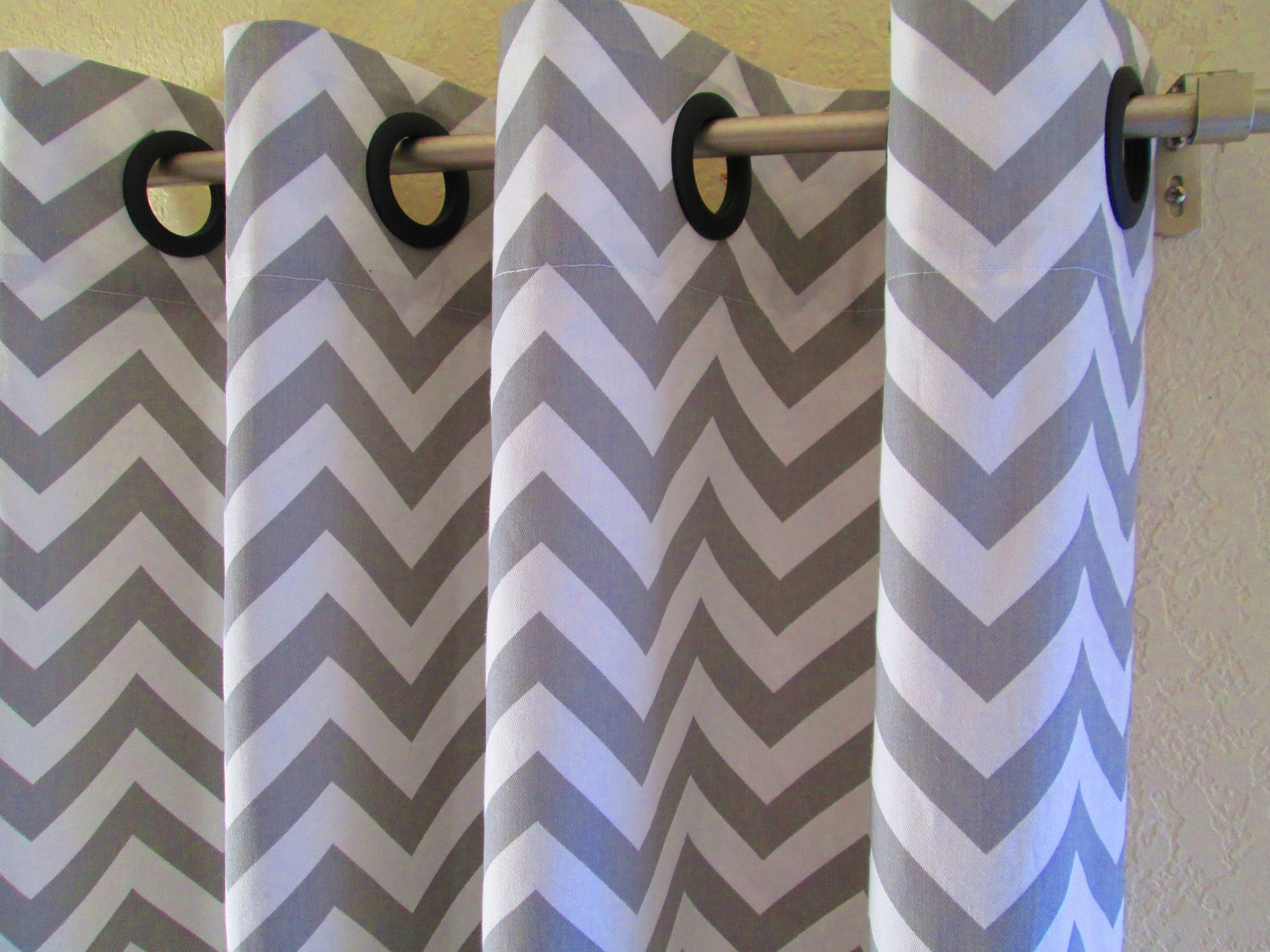 curtains and window geometric master white bedroom bedrooms drapes custom curtain gray pin