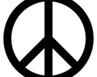 Peace Sign Decal VINYL sticker for car window YETI mugs etc!!!