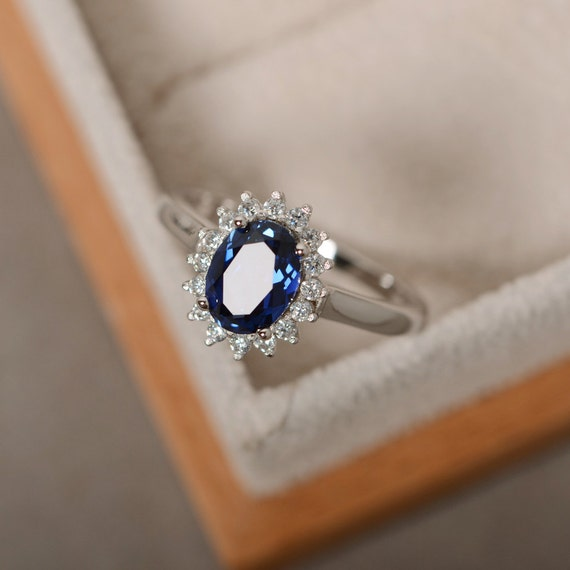 white s silver promise cut ring plated rings sapphire created women heart rhodium engagement sterling