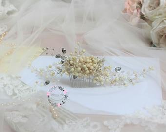 Bridal Comb, Wedding Hair Comb, Bridal Hair Comb, Wedding Comb, Pearl Comb, Bridal Headpiece, Crystal Wedding Headpiece, Rhinestones Comb