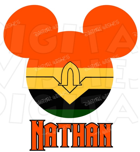 Aquaman Mickey Mouse Head Digital Iron On Transfer Clip Art