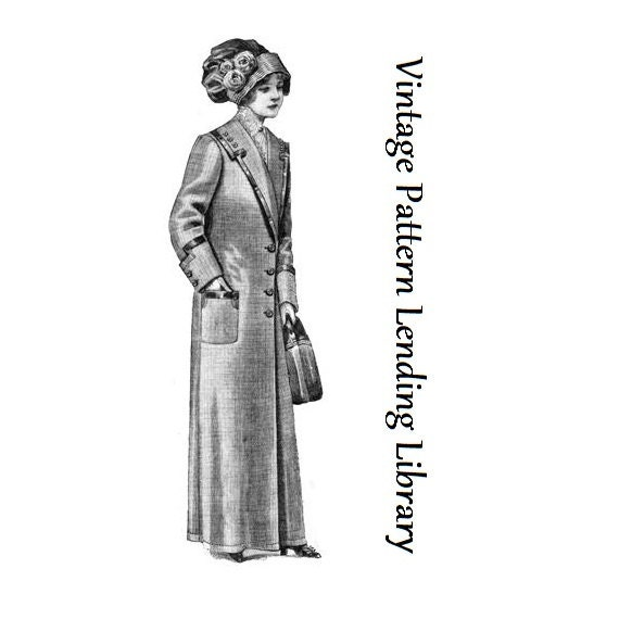 1912 Damen Duster Mantel Reproduktion Schnittmuster E0402