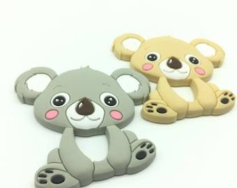 Baby Silicone Koala Food Grade Silicone Koala Teether Accessories Baby Toy DIY Nursing Necklace Teethers