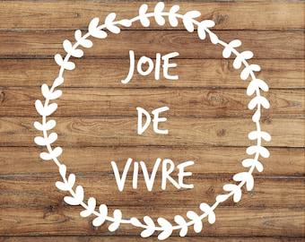 joie de vivre wall art french quote french home decor joy