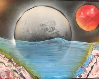 Moonlight spray paint
