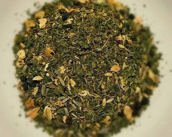 Allergy Herbal Blend - Natural Allergy Relief, Organic Loose Leaf Tea, Herbal Tea, Nettle, Peppermint, Elderberry, Lavender, Thyme, Lemon