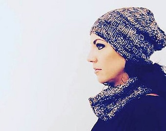 Queenscrown Hat & Cowl PDF Knitting Pattern