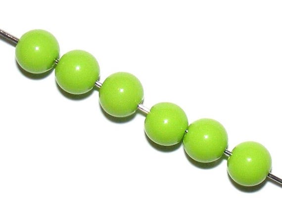 Colorful Acrylic YellowGreen 10 x 8mm round