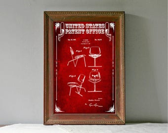 Eames Chair Patent Print – Chair Patent, Furniture Patent, Furniture Blueprint, Chair Blueprint, Office Art, Modern Furniture Design