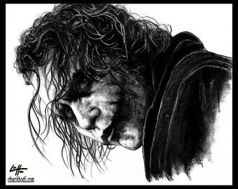 "Print 8x10"" - The Joker - Batman Dark Knight Heath Ledger Christian Bale Dark Art Super Villian Hero Lowbrow Art Pop Gotham City Crime Clown"
