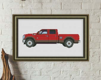 Car cross stitch pattern ford cross stitch pattern modern cross stitch pattern pick-up cross stitch pattern instant download cross stitch