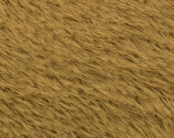 "10% OFF:  German Mohair Fabric, Brown, Straight, 15mm Pile, Size 24 x 27"" 50001051"