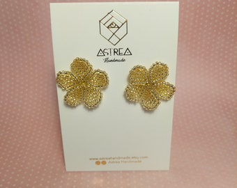 Kloris earrings. Statement Flower Colourful Stud Earrings