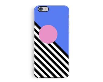 iPhone 7 Case, iPhone 7 Plus Case, Memphis iPhone 7 Case, Memphis movement, Protective iPhone 7 Case, 80s iPhone 7 case, Blue Phone Case