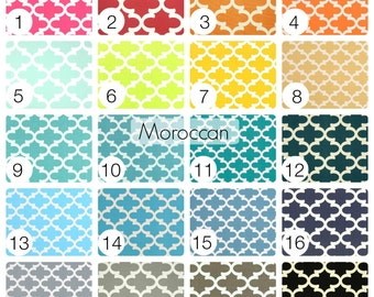 Moroccan Tiles Curtain Panels. 25 or 50 Inch Widths. 63, 84, 96, 108, 120 Lengths. Quatrefoil Window Treatments. Drapery Curtains.