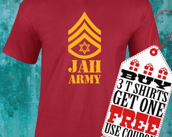 Jah Army T Shirt!!! Rastafari T shirt!!!
