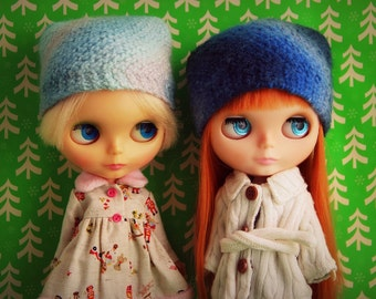 PATTERN - Swirl Hats - knitted and felted hats for Blythe dolls INSTANT DOWNLOAD