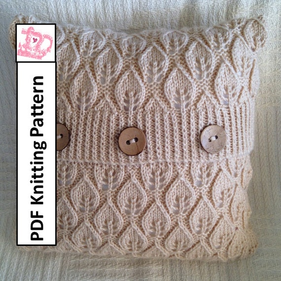 Pdf Knitting Pattern Pillow Cover Knitting Pattern Knitted Cushion