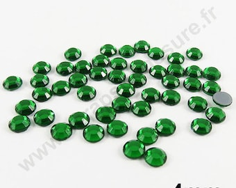 Rhinestone Thermo - Pine Green - 4mm - x 50pcs