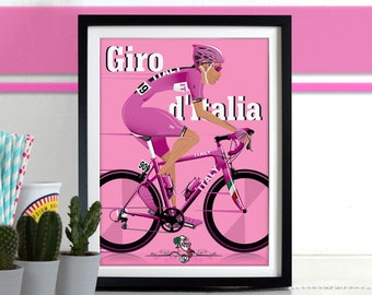 Giro D'Italia Grand Tour Bicycle Bike Race Poster Wall Art Print Home Décor cycling, cycle