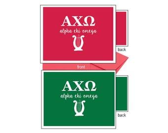 Alpha Chi Omega Notecards - Letters