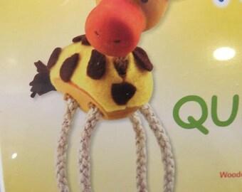 Wooden animal Kit: giraffe Queenie