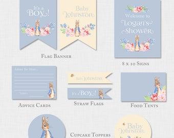Peter Rabbit Decorations, Peter Rabbit Shower Decor, Boy Baby Shower Decor, Bunny Party Decorations