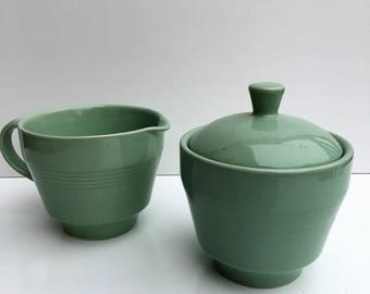 Berylware mint green sugar and creamer set