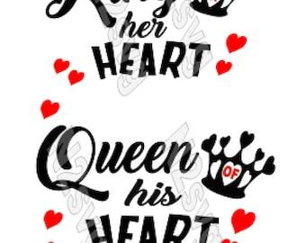 Queen of her heart , valentine svg