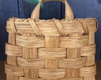 Handmade Basket, Small Pocket Basket, Wall Basket, Hanging Basket, Flower Basket, Made in USA